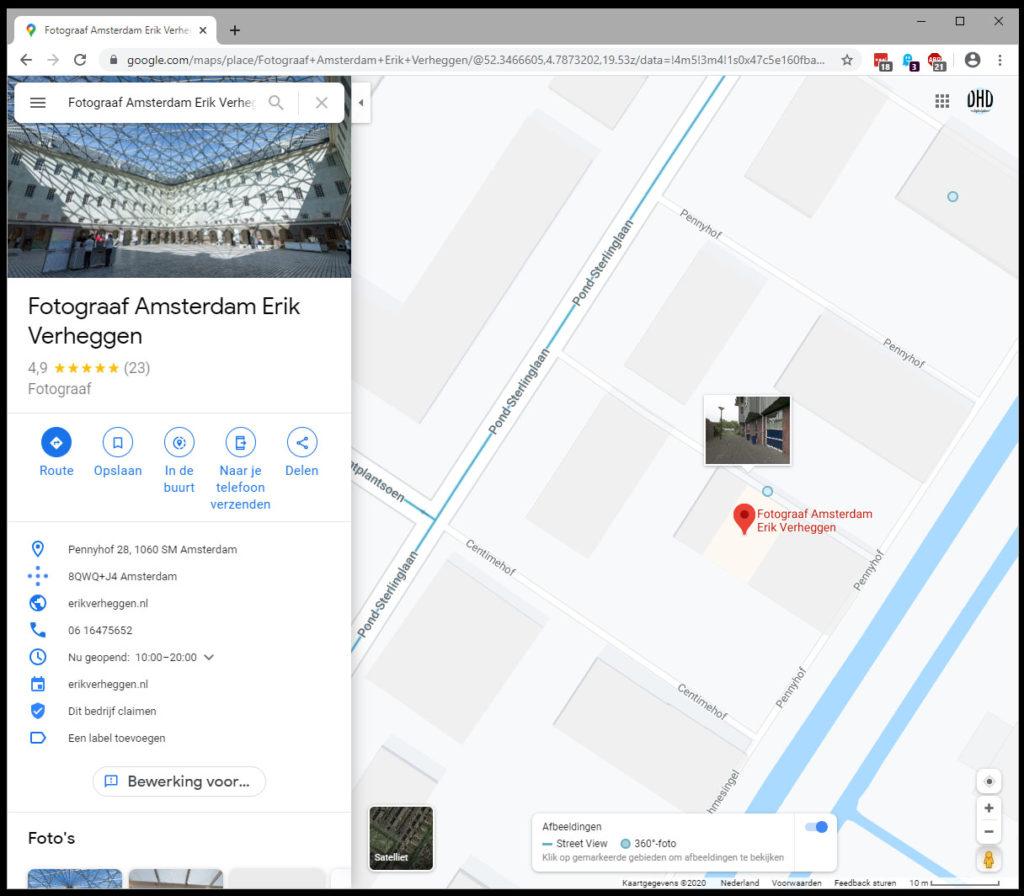 Google Street View ingezoomd